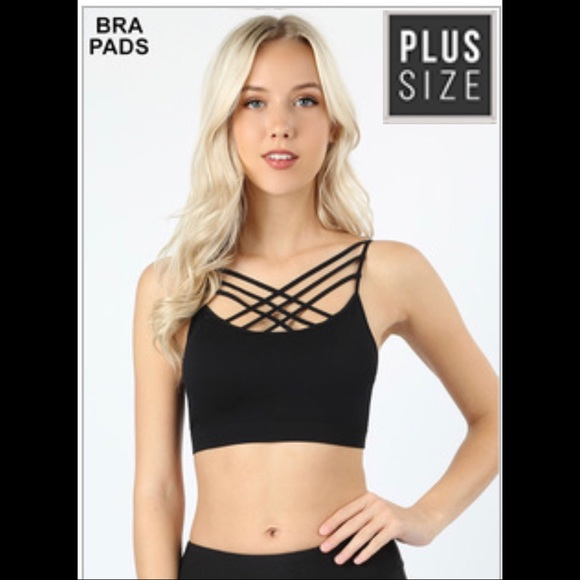 f12197c5353 Plus size triple criss-cross front Bralette 🖤🖤